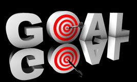 Goal word 3D isolated on black background Stock Images