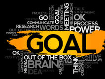 GOAL. Word business collage Royalty Free Stock Photos