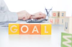 GOAL word with colorful blocks Stock Image