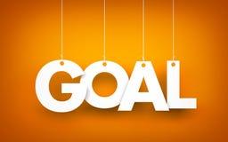 Goal - word hanging on orange background Stock Photo