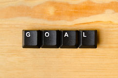 Goal word Royalty Free Stock Photos