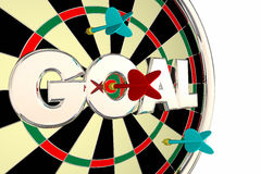 Goal Word Mission Objective Target Dart Board vector illustration