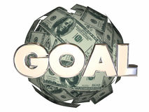 Goal Word Money Income Growth Mission Objective. Sphere Royalty Free Stock Photography