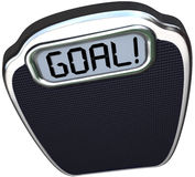 Goal Word Scale Weight Loss Target Lightweight Stock Image