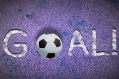 Goal word Royalty Free Stock Photo