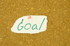 Goal wording Royalty Free Stock Images