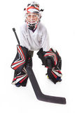 Goaler d'hockey de jeune adolescent photo libre de droits
