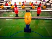 goalie Ξύλινο επιτραπέζιο παιχνίδι ποδοσφαίρου στοκ εικόνες