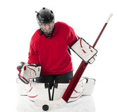 goalie πάγος χόκεϋ στοκ εικόνες