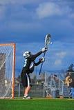 goalie στάση λακρός Στοκ φωτογραφία με δικαίωμα ελεύθερης χρήσης