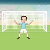 Goalie Arkivfoton