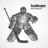 Goalie, abstraction, hockey. Abstract hockey goalkeeper of the black circles. Vector illustration Royalty Free Stock Photos