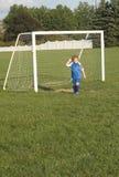 Goalie da juventude Fotos de Stock