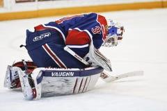 Goalie Damien Ketlo Hockey Player Stock Photo