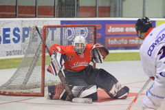Goalie Daniel Brabec - inline hockey Stock Images
