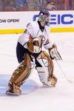 Goalie Devan Dubnyk of the Edmonton Oilers Royalty Free Stock Photo