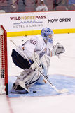 Goalie Devan Dubnyk of the Edmonton Oilers Royalty Free Stock Images