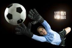 Goalie do futebol imagem de stock royalty free