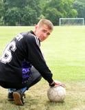 Goalie do futebol foto de stock royalty free