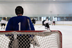 Goalie do hóquei Fotografia de Stock Royalty Free