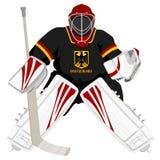 Goalie do hóquei de Alemanha da equipe Imagens de Stock Royalty Free