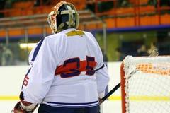Goalie do hóquei de gelo Foto de Stock Royalty Free