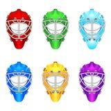 Goalie helmet. Vector illustrations of goalie helmet Royalty Free Stock Images