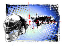 Goalie heomet frame. Illustration of the helmet on the dirty background Stock Photos
