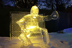 Goalie Ice Sculpture Stock Photo