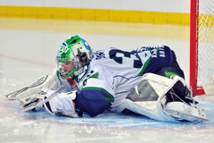 Goalie Mikhail Biryukov warming up Stock Photos