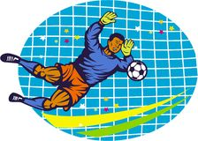 Goalie Soccer Football Player Retro Royalty Free Stock Image