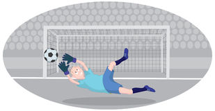 Goalkeeper. The picture shows a goalkeeper Stock Photography