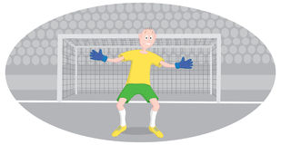 Goalkeeper. The picture shows a goalkeeper Royalty Free Stock Photos