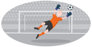 Goalkeeper. The picture shows a goalkeeper Royalty Free Stock Photography