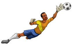 The goalkeeper Stock Images