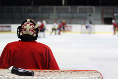 Goalkeeper. Hockey match and the goalkeeper Royalty Free Stock Images