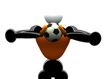 Goalkeeper. 3d Goalkeeper stock illustration