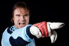 The goalkeeper Royalty Free Stock Photos