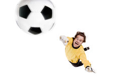 Goalkeeper in action Royalty Free Stock Photos