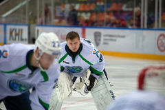 Goalkeeper Alexander Sharychenkov Royalty Free Stock Photography