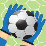 Goalkeeper batted ball Stock Images