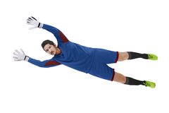 Goalkeeper catch ball Royalty Free Stock Photography