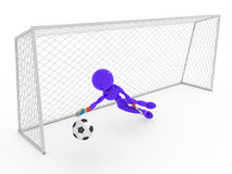Goalkeeper catches a soccer ball #6 Royalty Free Stock Photo