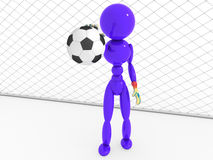 Goalkeeper catches a soccer ball  #3 Royalty Free Stock Image