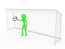Goalkeeper catches a soccer ball #2 Royalty Free Stock Images