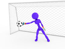 Goalkeeper catches a soccer ball #4 Stock Photo