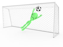 Goalkeeper catches a soccer ball #3 Royalty Free Stock Photography