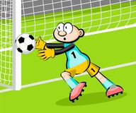 Goalkeeper catching the ball Royalty Free Stock Photography