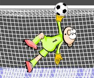 Goalkeeper catching the ball Royalty Free Stock Images