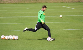 Goalkeeper Christofer Heimeroth in dress of Borussia Monchengladbach Royalty Free Stock Image